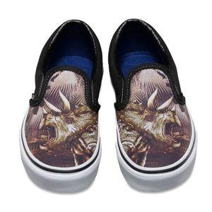 VANS Kids Dinosaur Triceratops Slip-on Shoes